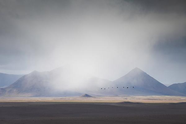 Tierras altas, camino de Sigurdarskali.