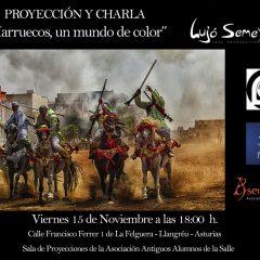 Proyección y conferencia «Marruecos un mundo de colores»